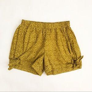 Anthropologie | Batik Print Bow Tied Shorts